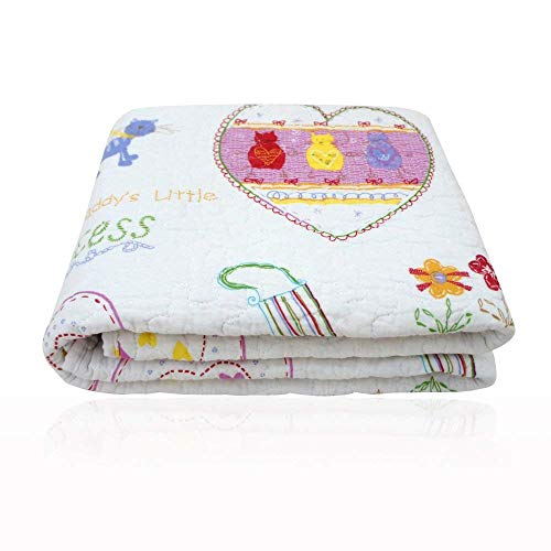 "Abreeze Heart And Trees Design Coverlet Quilt Bedspread Summer Air-Conditioning Quilt Twin 43"" X 51"""
