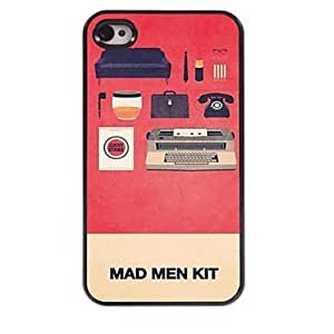 LCJ Mad Man Kit Pattern Aluminum Hard Case for iPhone 4/4S by ruishername
