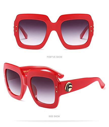 Lente Ligero Hombre Gafas de UV400 Vintage Unisex Sol Polarizadas Retro Gafas C6 de Cuadrados Mujer Gafas Fliegend Espejo Sol Súper 1wntqdZZU