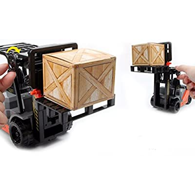 1:22 Scale Friction Fork Lift with Pallets Warehouse Truck Vehicle Toy Forklift for Kids: Toys & Games