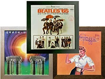 3 three record album frames 3 pack special solid wood black frame