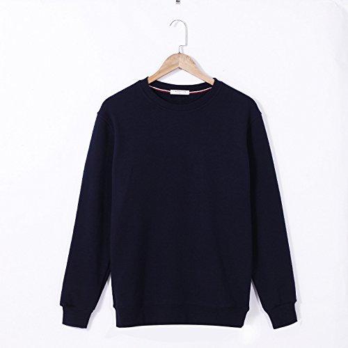 Lisux große Code und großen im Herbst und Winter Pullover - Kaschmir - Pullover und Slim Farbe Plus Pullover,dunkelblau,XXXL