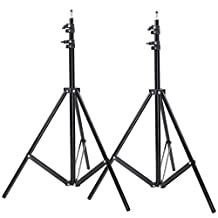 Neewer Two Aluminum Photo/Video Tripod Light Stands For Studio Kits, Lights, Soft Boxes - 6.23 Feet/ 190CM