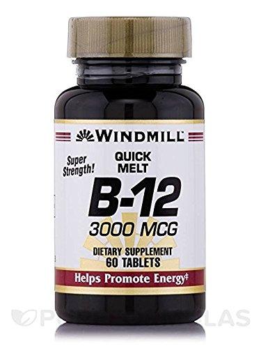 VIT B-12 LOZENGE 3000MCG WMILL 60 (Lozenges Vitamins Windmill)
