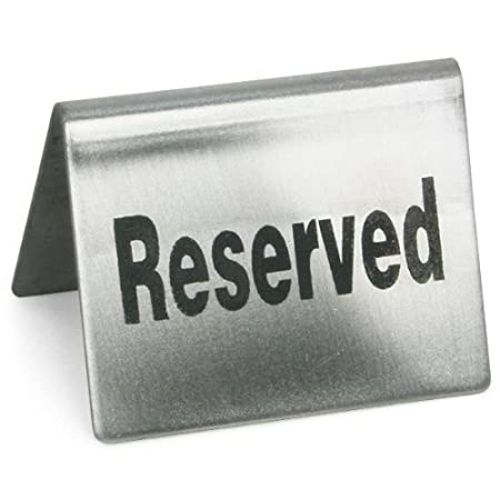 Reserved Sign Set Of Stainless Steel Restaurant Table Signs - Restaurant table signs