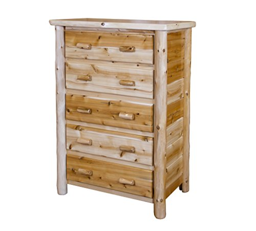 Rustic White Cedar Log Chest Of Drawers- Amish Made in the USA- Multiple Sizes