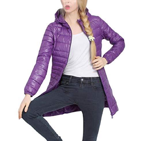 Fall Coat Hoode Purple RkBaoye Slim Warm Women Size Winter Plus Down Lightweight wAxZw