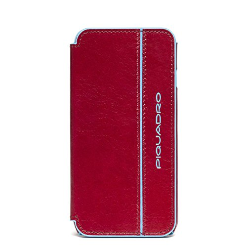 Piquadro 7-Inch iPhone 6 Side Flap Leather Case, Red, One Size by Piquadro