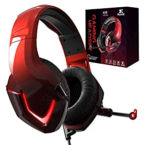 Gaming Headset with mic for Xbox One PS4 PS5 Nintendo Switch Lite PC Fortnite Mac Laptop iPad NEEDONE K19 Red and Black…