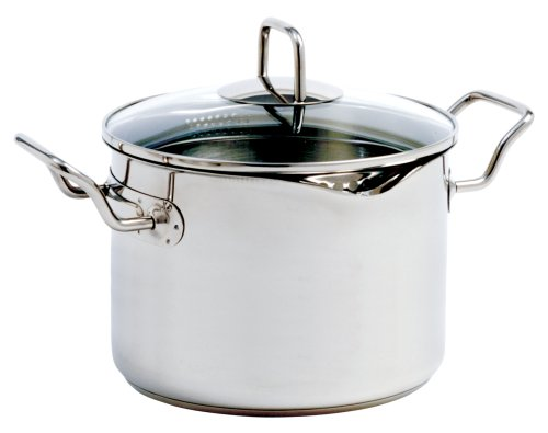 Norpro 660 KRONA 7.5 Quart Vented Pot with Straining Lid, Stainless Steel