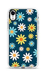 Stylizedd Apple iPhone XR Cover Impact Pro White Military Grade Dual Layer Case - Pick A Daisy Full