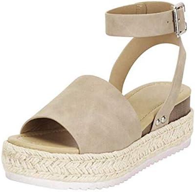 Thenxin Platform Wedge Shoes Womens Open Toe Ankle Strap Espadrilles Bottom Peep Toe Summer Sandal / Thenxin Platform Wedge Shoes Womens Open Toe Ankle Strap Espadrilles Bottom Peep Toe Summer Sandal