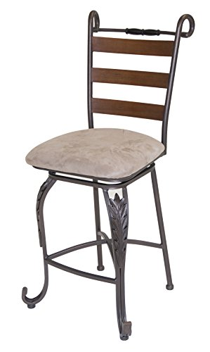 Impacterra QLTL22233861343 Tangle Wood Swivel Barstool