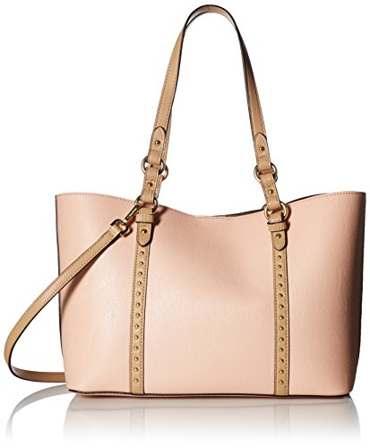 Calvin Klein womens Calvin Klein Faux Leather Reversible Bag in Bag East/West Tote, intimate/nude, One Size