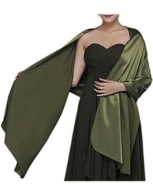 Womens Chiffon Bridal Evening Soft Wrap Scarf Shawl