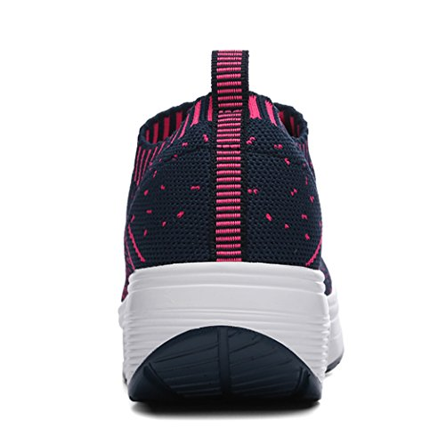 Womens Mesh On Outdoor Shoes Walking Casual Navy Running Shoes Fashion Sneaker Slip TBTfp
