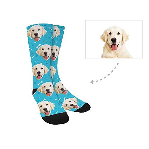 Dog Print Custom - D-Story Custom Dog Socks for Women and Men 15.35 inch