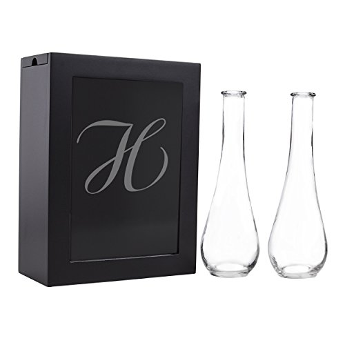 Cathy's Concepts Sand Ceremony Shadow Box Set, Letter H, Black by Cathy's Concepts