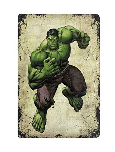 WholesaleSarong Marvel Comics Super Hero Incredible Hulk tin Sign Art Prints Posters Wall -