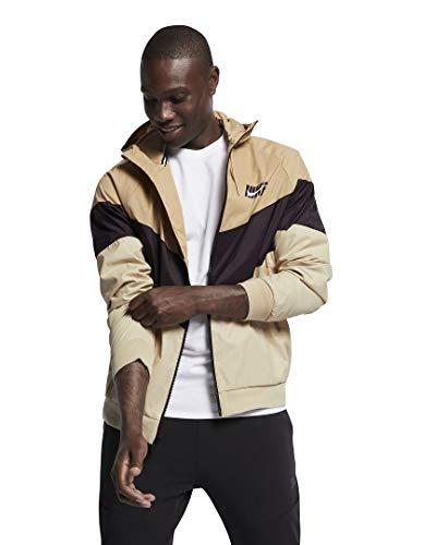 NIKE Mens HD GX Windrunner Hooded Track Jacket (Desert/Burgundy Ash/Desert Ore, Large) (Hooded Track Jacket)