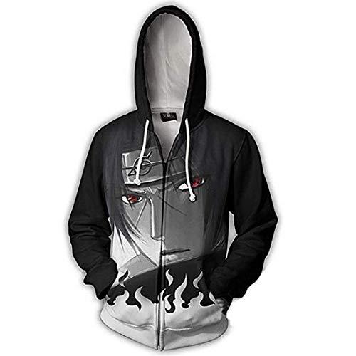 CHENMA Men Naruto Kakashi Long Sleeve Full-Zip Bomber Jacket