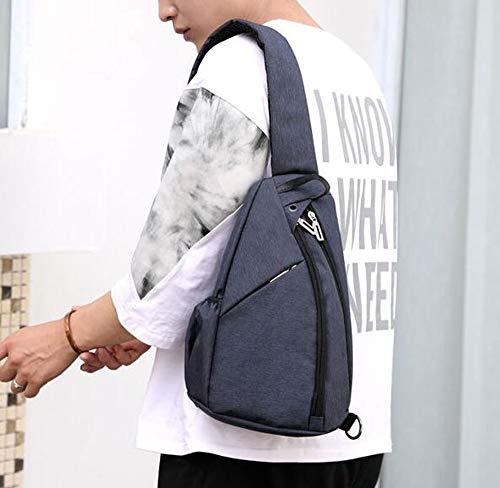 Bag Capacity Large Men's Blue Crossbody Keephen Chest Shoulder Business Backpack Outdoor Single vRwHS
