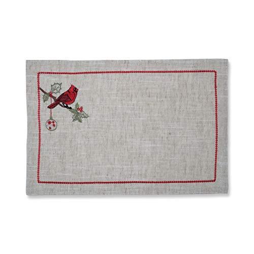 Pillow Perfect Christmas Cardinal Embroidered Placemat Set of 2 12 x 18 Multicolored [並行輸入品]   B07J4KLZMK
