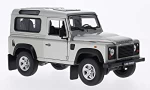 Land Rover Defender, plateado, Modelo de Auto, modello completo, Welly 1:24
