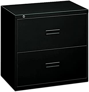 "product image for HON Filing Cabinet - 400 Series Two-Drawer Lateral File Cabinet, 36"" w x 19.25"" d x 28.38"" h, Black (434LP)"