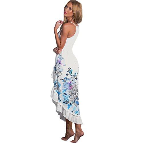 Vestido De Mujer, Xinan Verano Boho Long Maxi Partido Vestido De Cóctel Beach Sundress Blanco