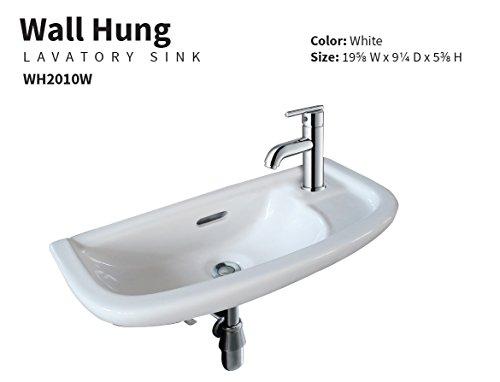 19' Wall Mount Bathroom Sink