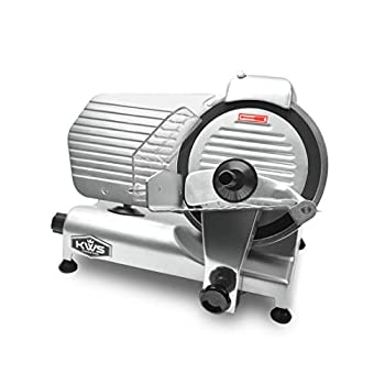Image of KWS MS-10NT Premium Commercial 320W Electric Meat Slicer 10-Inch with Non-sticky Teflon Blade, Frozen Meat/Deli Meat/Cheese/Food Slicer Low Noise Commercial and Home Use Home and Kitchen