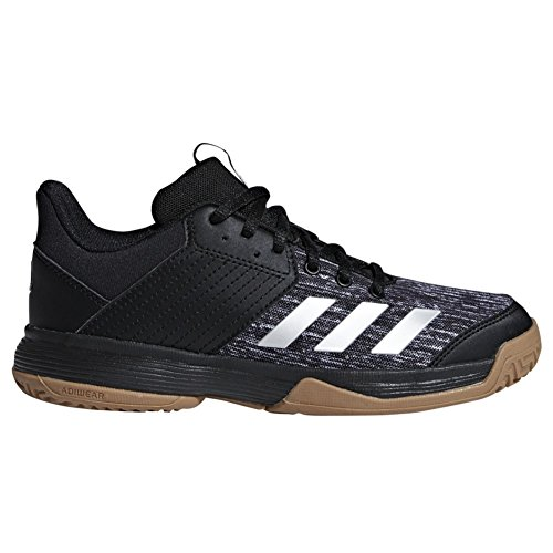 sale retailer 2a7df 8e1f3 adidas Unisex Ligra 6 Volleyball Shoe, BlackSilver MetallicWhite, 4 M