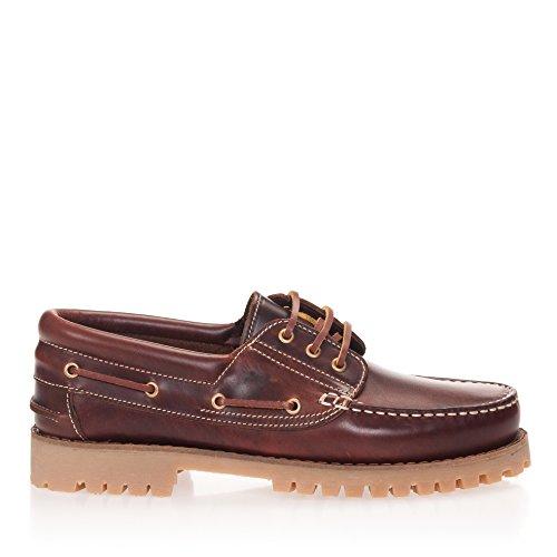 Castellanísimos C01104 Zapatos Náuticos Hombre Piel Con Cordones Color Marron Marron