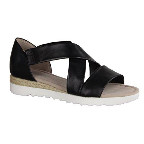 schwarz 62 711 Gabor Jute Donna Sandali Shoes HAgqwF