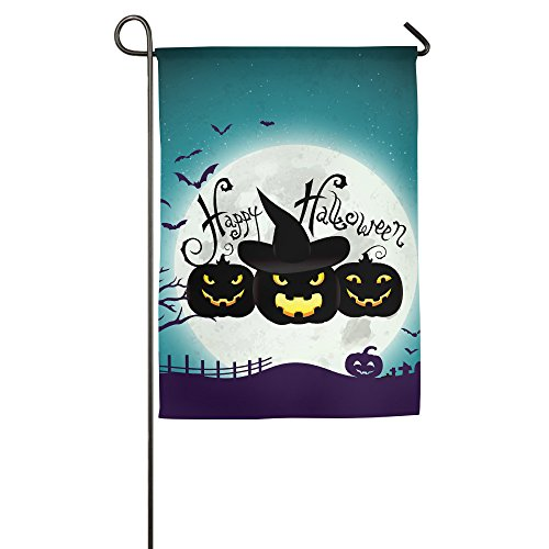 Halloween Pumpkin 100% Polyester Yard Flag Garden (Origin Of Halloween Hallows Eve)
