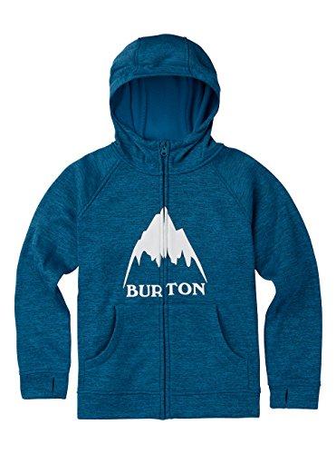 Burton Boys Oak Full-Zip Hoodie, Mountaineers Heather, - Hooded Fleece Jacket Burton