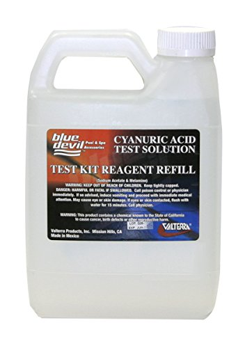 Blue Devil B7518 Cyanuric Acid Test, Quart (32 oz) Bottle Cyanuric Acid Test Kit