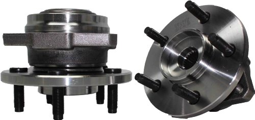 Jeep Hub Assembly (Brand New (Both) Front Wheel Hub and Bearing Assembly 5 Lug No ABS - [2002-2005 Jeep Liberty Non-ABS])