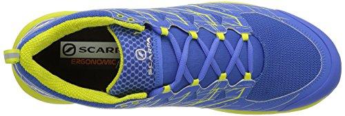 Scarpa Mens Mens Neutron 2 Trail Running Scarpa Grecian Blu / Verde Primavera