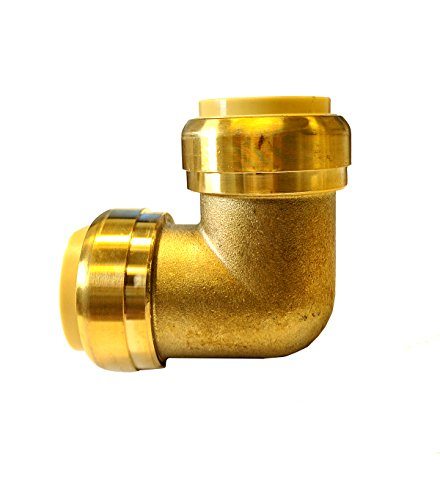 (Libra Supply Lead Free 1 x 3/4 inch 90 Degree Push-Fit Elbow, Push to Connect, (Click in for more size options), 1'' x 3/4'', 1 x 3/4-inch Brass Pipe Fitting Plumbing Supply)