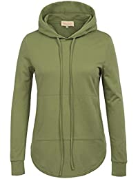 Casual Hooded Tops With Pocket For Women Drawstring Top KK808