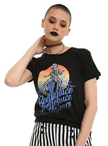 Beetlejuice Moonlight Graveyard Girls T-Shirt