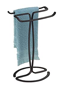 mdesign hand towel holder for bathroom
