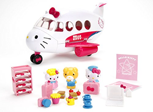 Jada Toys Hello Kitty Jet Plane Play Set]()