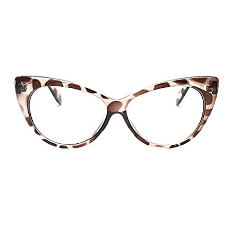 72d08498bd Super Cat Eye Glasses Vintage Inspired Mod Fashion Clear Lens Eyewear  (Leopard) by Style Vault  Amazon.co.uk  DIY   Tools