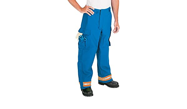 Polyester//Cotton 32 Waist Size Inseam 26 Royal Blue with 2 Lime//Yellow-Silver//Lime//Yellow Triple Trim TOPPS SAFETY EP01Y1115-32-26 EMS Pants