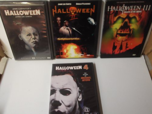 Halloween Movie With 3 Witches (Halloween 1,2,3 and 4 Dvd Set, Halloween1, Halloween 2 , Halloween 3 Season of the Witch, and Halloween 4 the Return of Michael Myers)