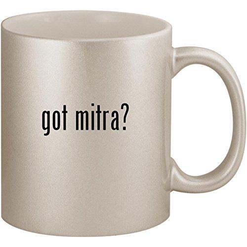 got mitra? - 11oz Ceramic Coffee Mug Cup, Silver