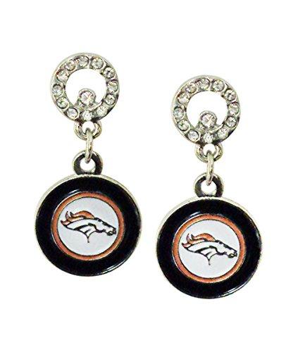 NFL Denver Broncos Circle Post Earrings